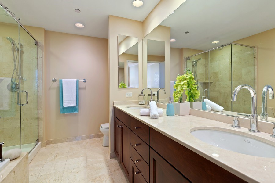 Real Estate Photography - 600 N Lake Shore, Unit 3304, Chicago, IL, 60611 - Master Bathroom