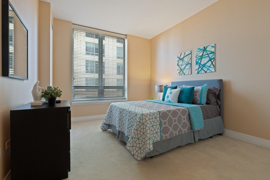 Real Estate Photography - 600 N Lake Shore, Unit 3304, Chicago, IL, 60611 - 2nd Bedroom