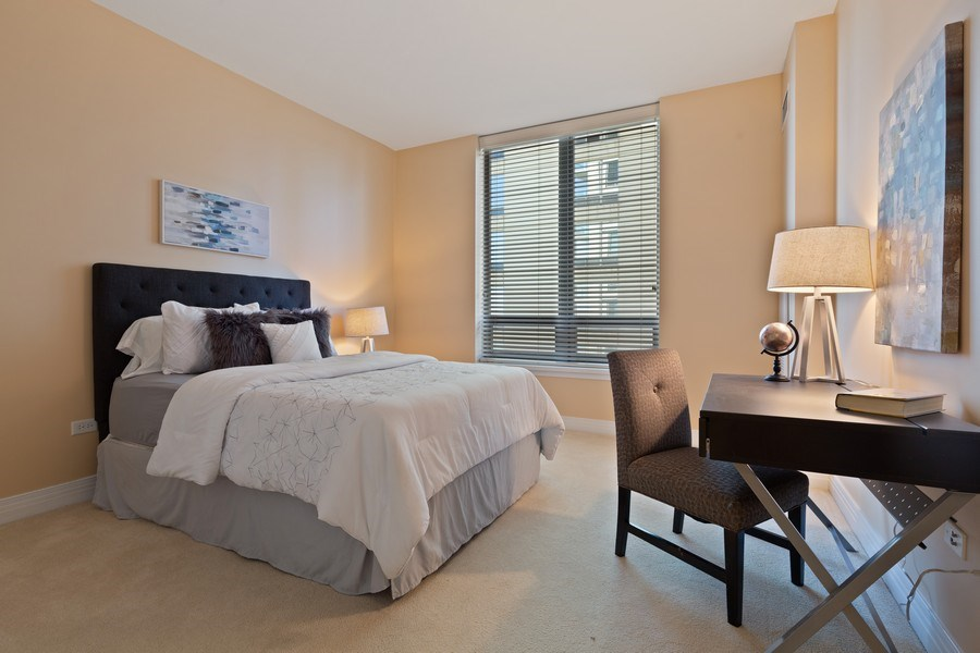 Real Estate Photography - 600 N Lake Shore, Unit 3304, Chicago, IL, 60611 - 3rd Bedroom