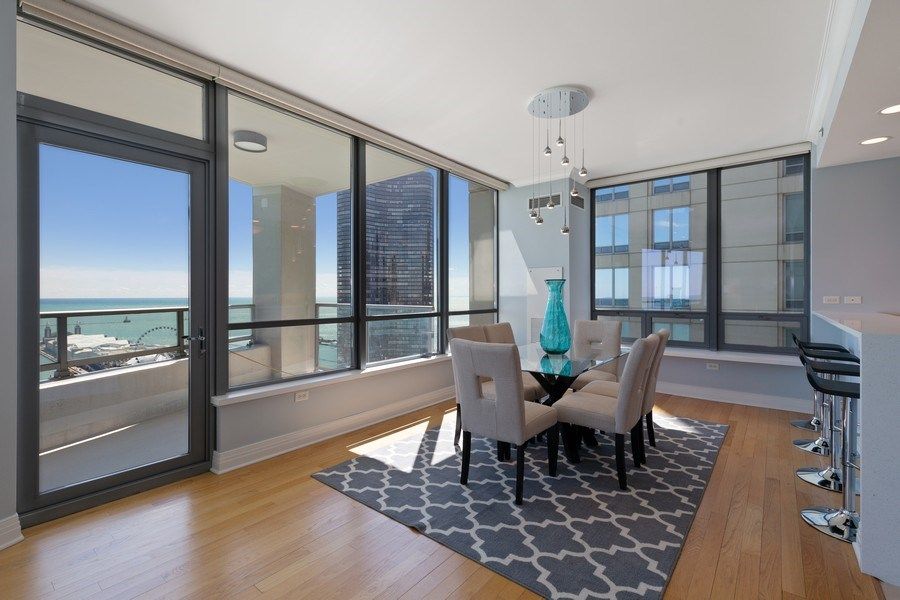 Real Estate Photography - 600 N Lake Shore, Unit 3304, Chicago, IL, 60611 - Dining Room