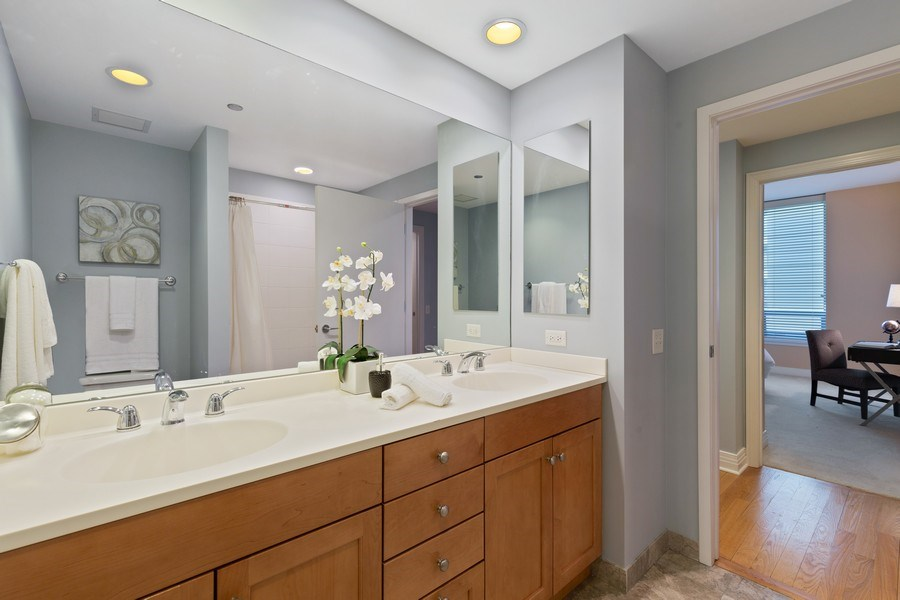 Real Estate Photography - 600 N Lake Shore, Unit 3304, Chicago, IL, 60611 - Bathroom