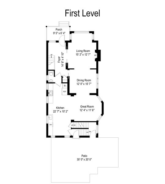 Real Estate Photography - 4020 N Hermitage Ave, Chicago, IL, 60613 - Floor Plan