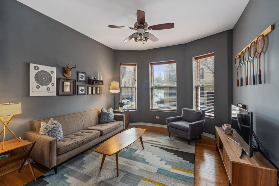 Real Estate Photography - 3215 W. Altgeld, 1E, Chicago, IL, 60647 - Living Room