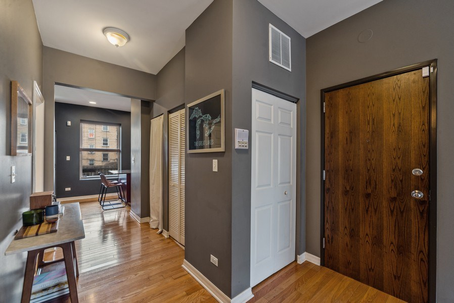 Real Estate Photography - 3215 W. Altgeld, 1E, Chicago, IL, 60647 - Foyer