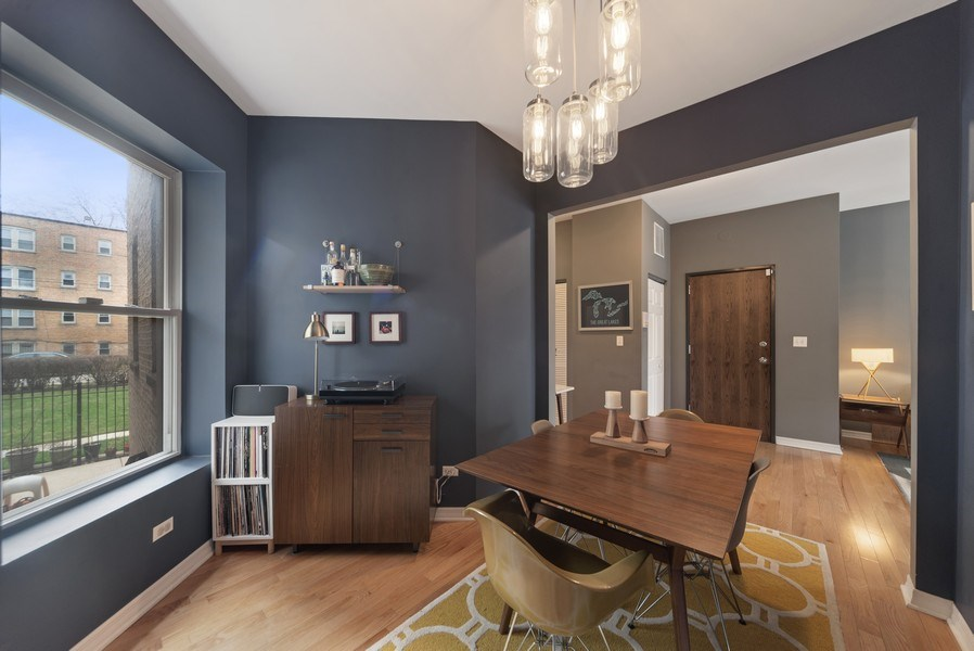 Real Estate Photography - 3215 W. Altgeld, 1E, Chicago, IL, 60647 - Dining Area