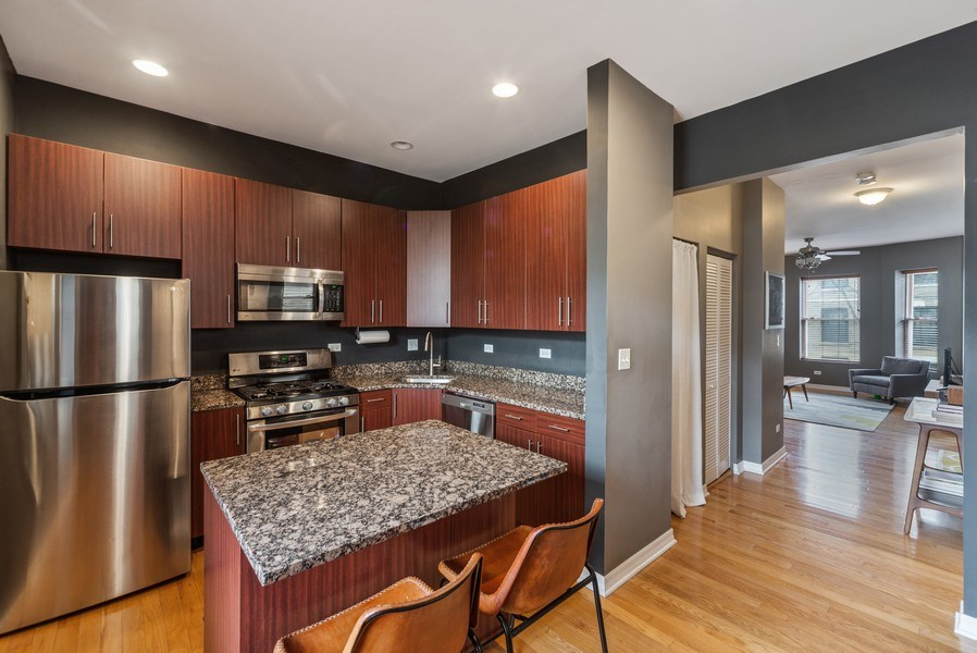 Real Estate Photography - 3215 W. Altgeld, 1E, Chicago, IL, 60647 - Kitchen