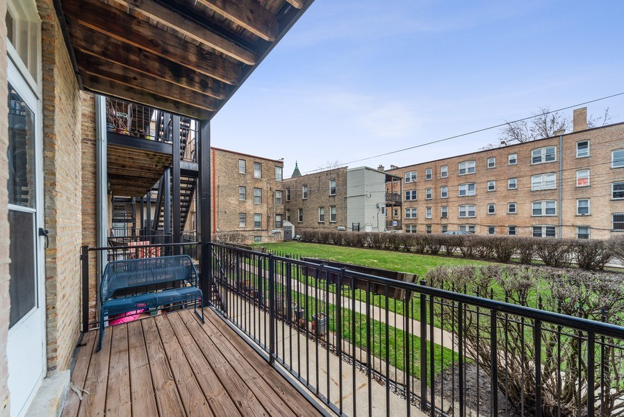 Real Estate Photography - 3215 W. Altgeld, 1E, Chicago, IL, 60647 - Deck