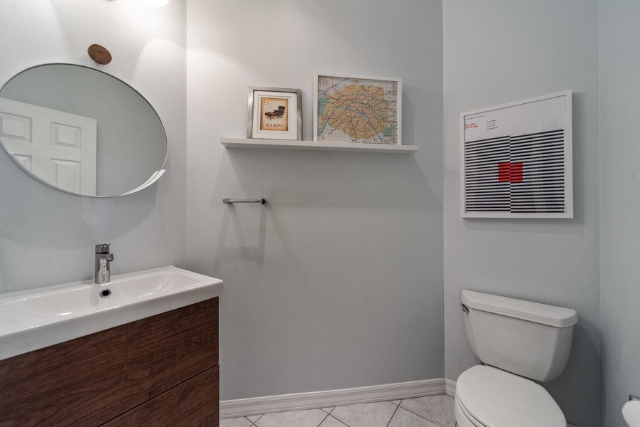 Real Estate Photography - 3215 W. Altgeld, 1E, Chicago, IL, 60647 - Powder Room