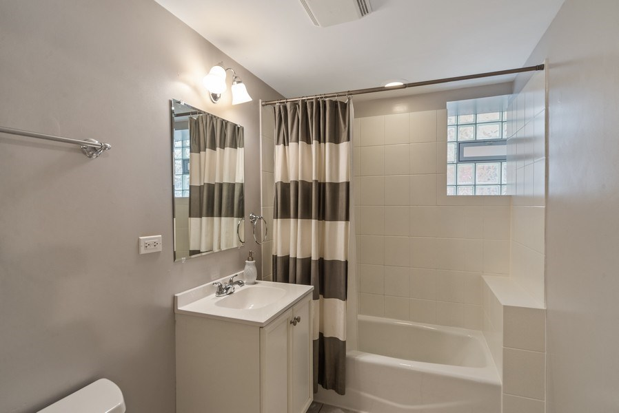 Real Estate Photography - 3215 W. Altgeld, 1E, Chicago, IL, 60647 - Second Bathroom