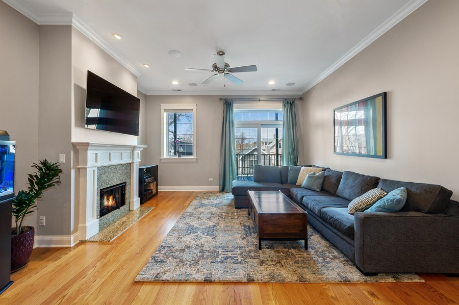 Real Estate Photography - 3203 N. Oakley, #301, Chicago, IL, 60618 - Living Room