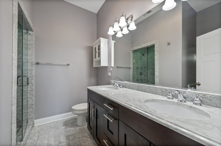 Real Estate Photography - 3203 N. Oakley, #301, Chicago, IL, 60618 - Master Bathroom