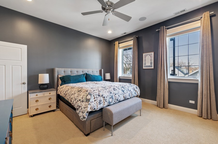 Real Estate Photography - 3203 N. Oakley, #301, Chicago, IL, 60618 - Master Bedroom