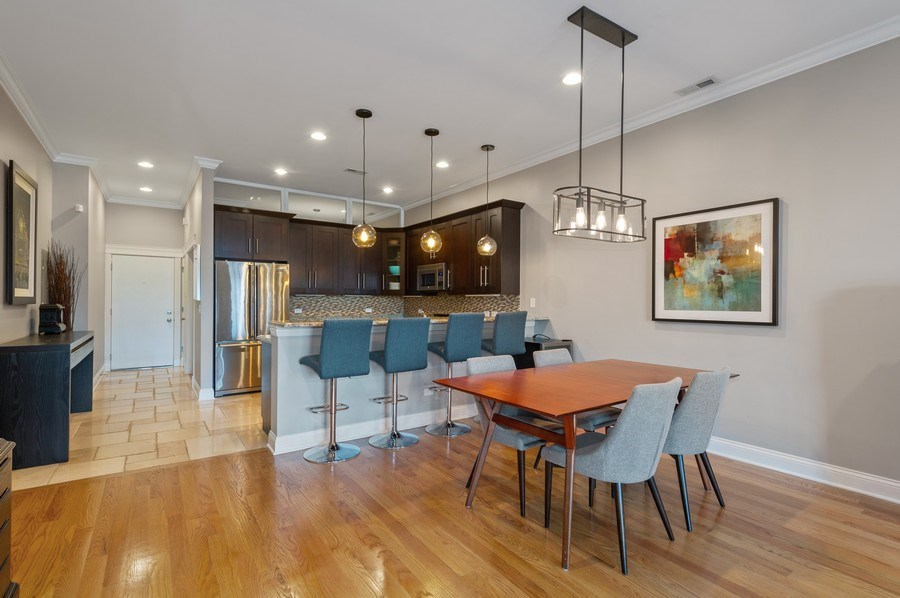 Real Estate Photography - 3203 N. Oakley, #301, Chicago, IL, 60618 - Kitchen / Dining Room