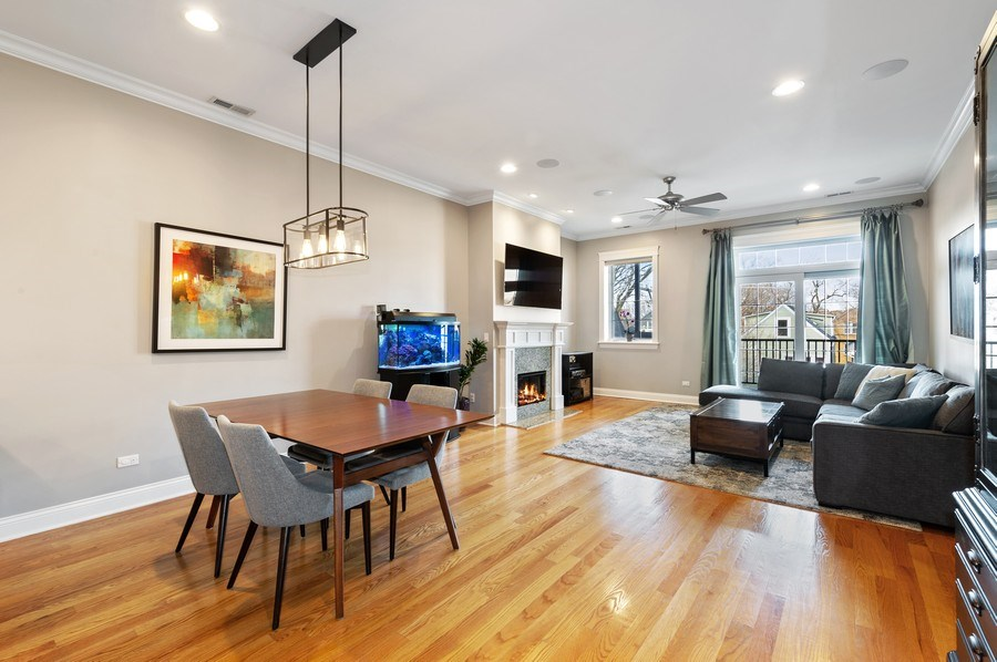 Real Estate Photography - 3203 N. Oakley, #301, Chicago, IL, 60618 - Living Areas