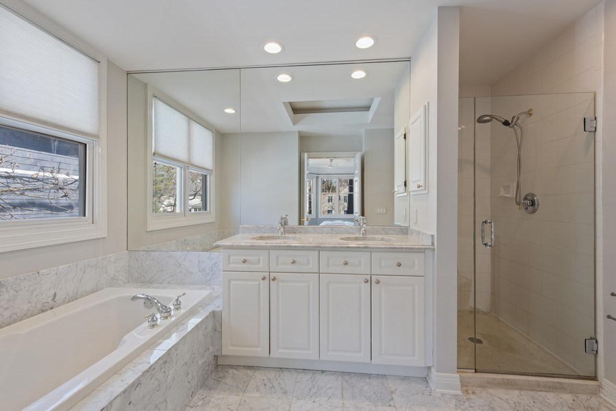 Real Estate Photography - 1443 Asbury Avenue, Winnetka, IL, 60093 - Master Bathroom