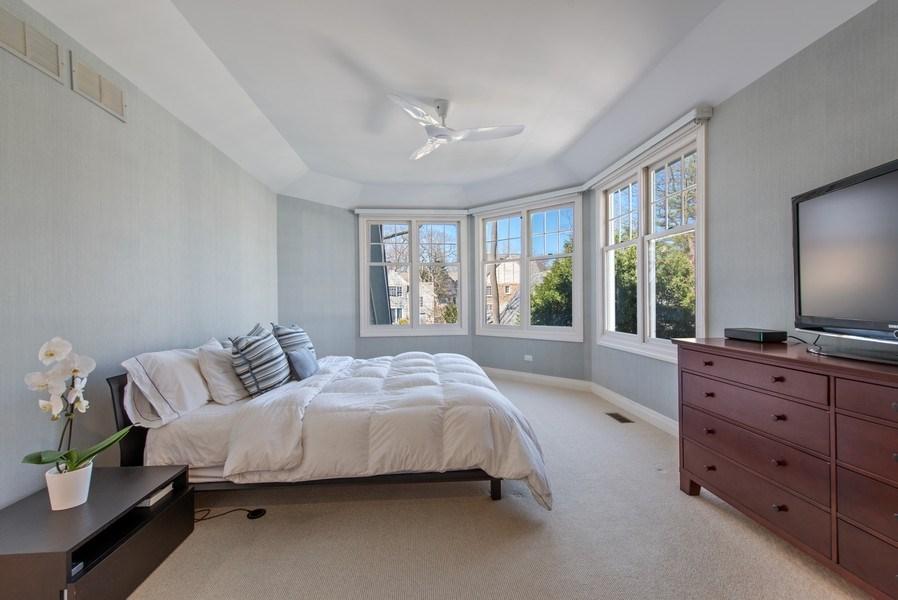 Real Estate Photography - 1443 Asbury Avenue, Winnetka, IL, 60093 - Master Bedroom