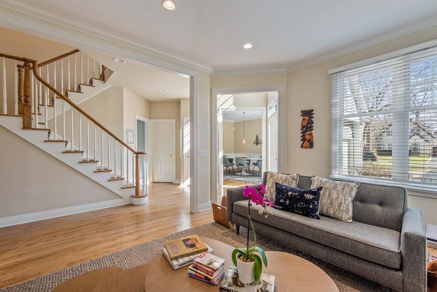 Real Estate Photography - 1443 Asbury Avenue, Winnetka, IL, 60093 - Foyer/Living Room