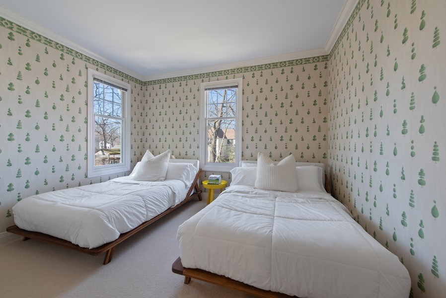 Real Estate Photography - 1443 Asbury Avenue, Winnetka, IL, 60093 - 2nd Bedroom