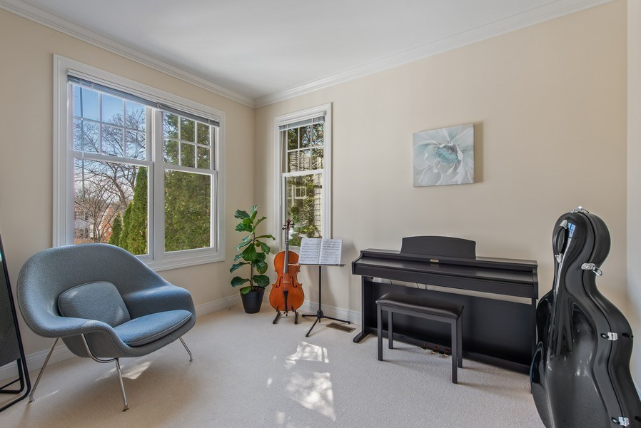 Real Estate Photography - 1443 Asbury Avenue, Winnetka, IL, 60093 - 3rd Bedroom