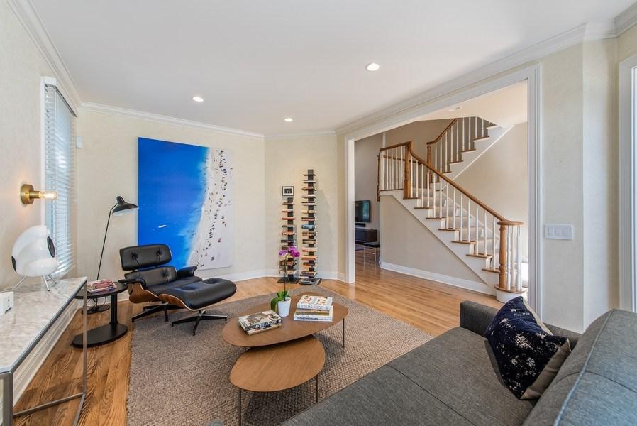 Real Estate Photography - 1443 Asbury Avenue, Winnetka, IL, 60093 - Living Room