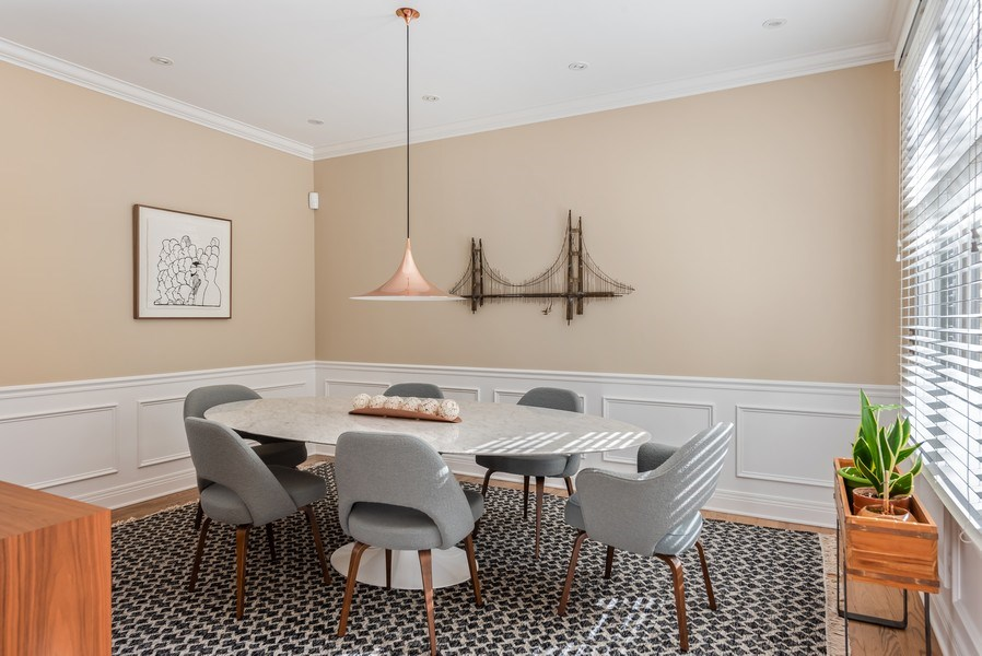 Real Estate Photography - 1443 Asbury Avenue, Winnetka, IL, 60093 - Dining Room