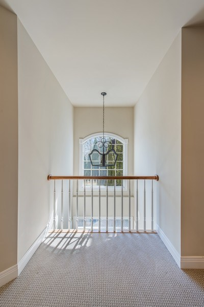 Real Estate Photography - 1443 Asbury Avenue, Winnetka, IL, 60093 - 2nd Floor View to Foyer