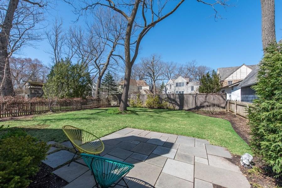 Real Estate Photography - 1443 Asbury Avenue, Winnetka, IL, 60093 - Back Yard