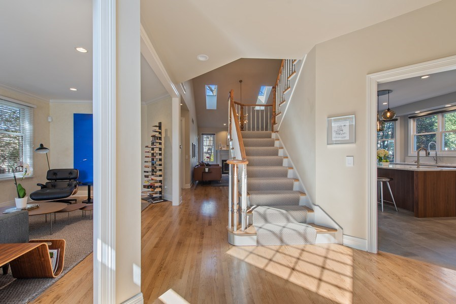 Real Estate Photography - 1443 Asbury Avenue, Winnetka, IL, 60093 - Foyer