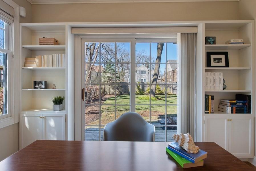 Real Estate Photography - 1443 Asbury Avenue, Winnetka, IL, 60093 - Office