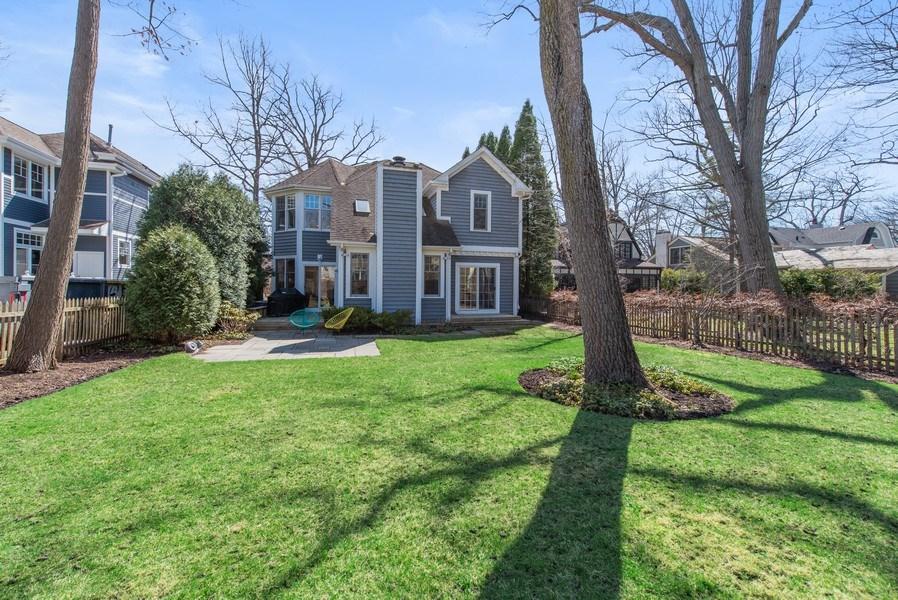 Real Estate Photography - 1443 Asbury Avenue, Winnetka, IL, 60093 - Rear View