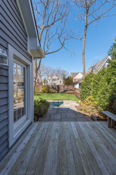 Real Estate Photography - 1443 Asbury Avenue, Winnetka, IL, 60093 - Deck
