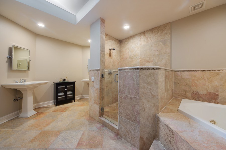 Real Estate Photography - 641 S Bristol, Arlington Heights, IL, 60005 - Master Bathroom
