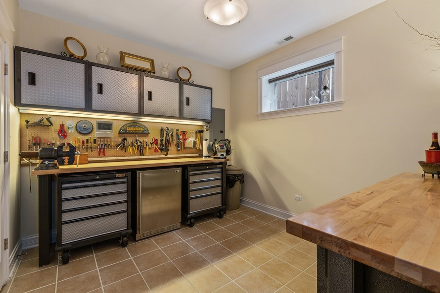 Real Estate Photography - 1957 W. Summerdale Avenue, Chicago, IL, 60640 - 5th Bedroom | Used currently as a workshop
