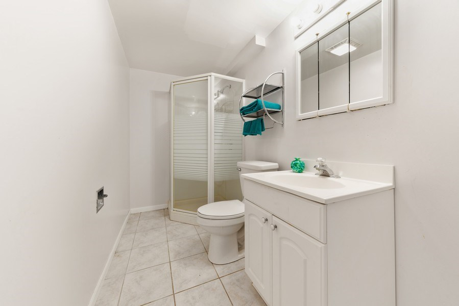 Real Estate Photography - 1171 Alder, Bartlett, IL, 60103 - 3rd Bathroom