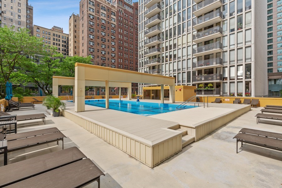 Real Estate Photography - 200 E. Delaware Place, Unit 15A, Chicago, IL, 60611 - Gorgeous Pool & Sundeck