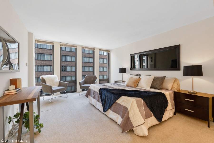 Real Estate Photography - 200 E. Delaware Place, Unit 15A, Chicago, IL, 60611 - Master Bedroom
