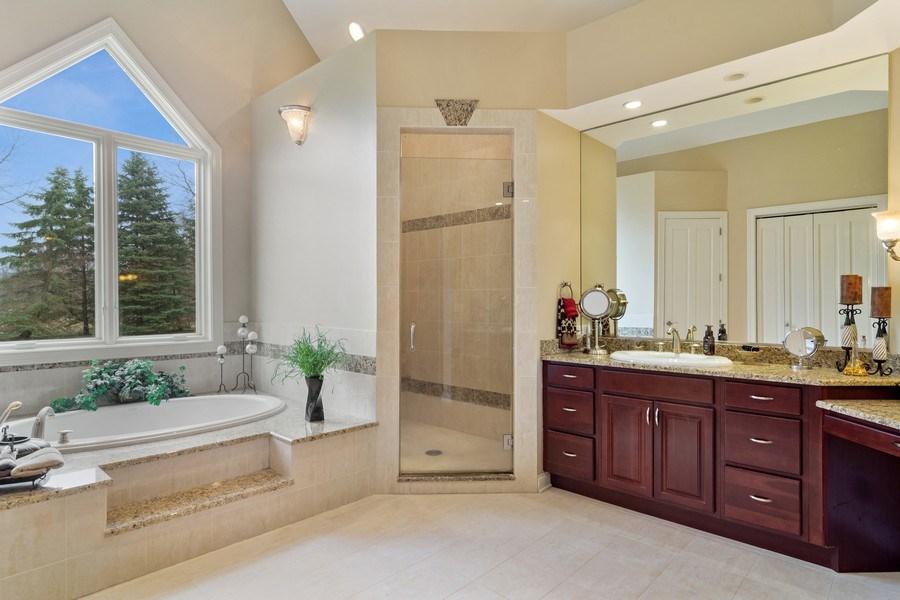 Real Estate Photography - 4575 Pamela court, Long Grove, IL, 60047 - Master Bathroom