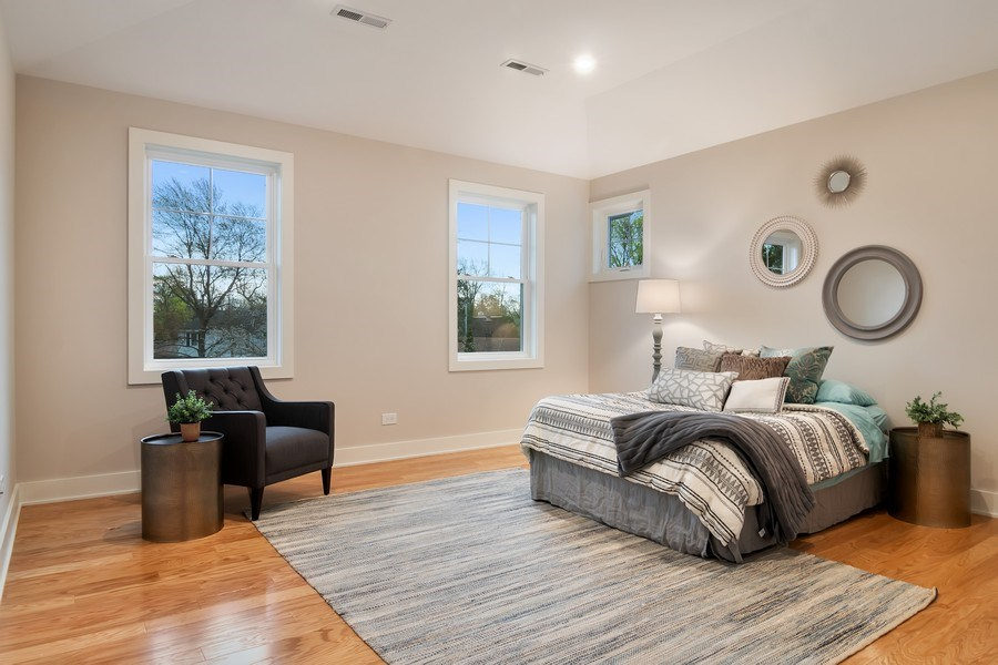 Real Estate Photography - 2430 Sumac Circle, Glenview, IL, 60025 - Master Bedroom
