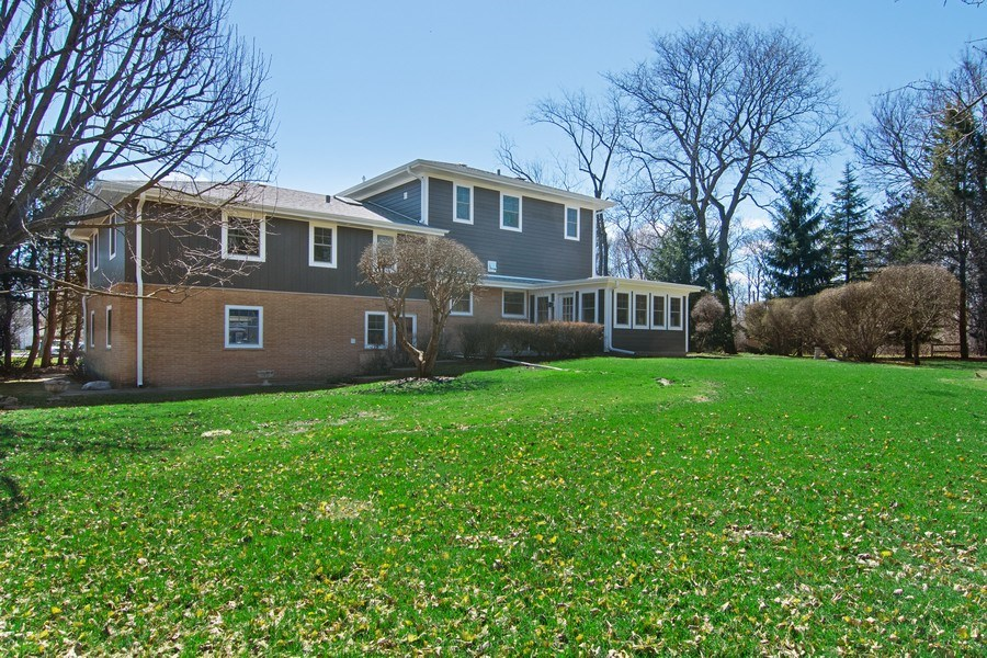 Real Estate Photography - 2430 Sumac Circle, Glenview, IL, 60025 - Rear View