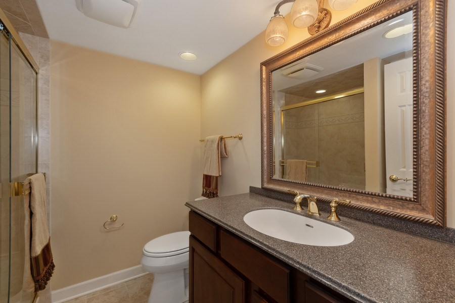 Real Estate Photography - 0S347 Grengs Lane, Geneva, IL, 60134 - Full Bath in Finished Bathroom