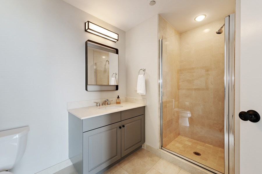Real Estate Photography - 21 East Huron, Unit 2905, Chicago, IL, 60611 - 3rd Bathroom