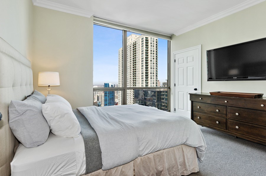 Real Estate Photography - 21 East Huron, Unit 2905, Chicago, IL, 60611 - 2nd Bedroom