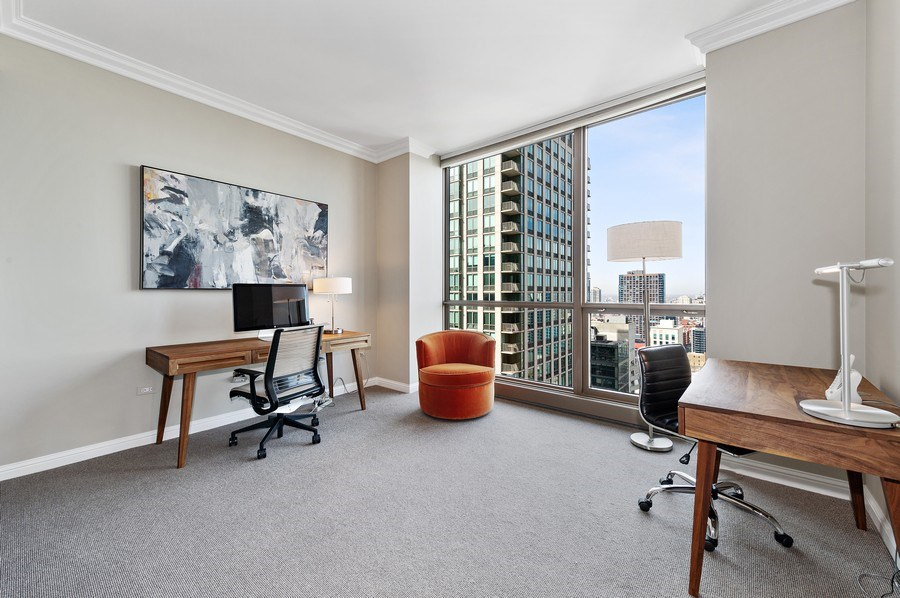 Real Estate Photography - 21 East Huron, Unit 2905, Chicago, IL, 60611 - 3rd Bedroom