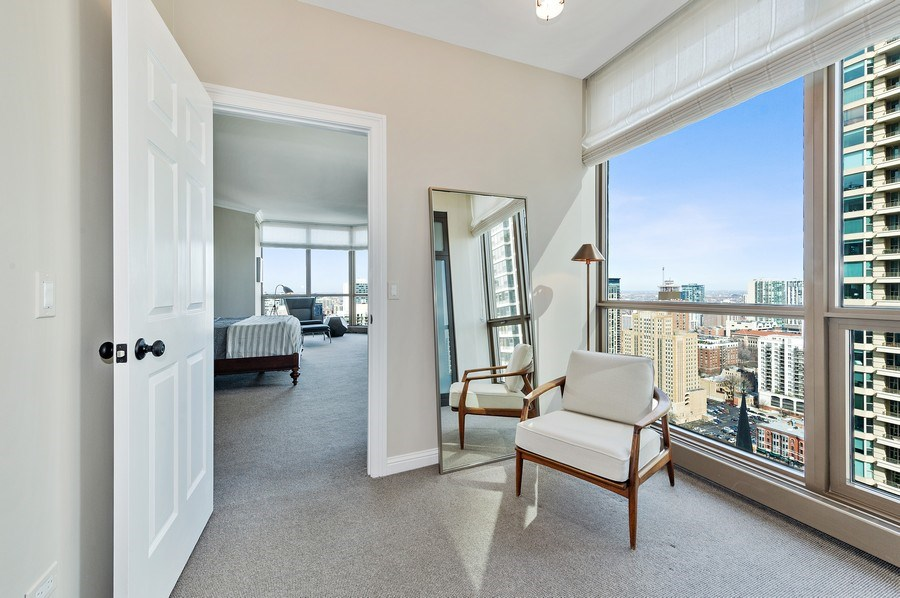 Real Estate Photography - 21 East Huron, Unit 2905, Chicago, IL, 60611 - Master Bedroom Dressing Room