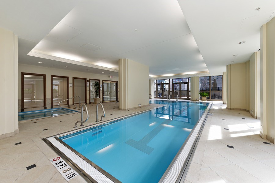 Real Estate Photography - 21 East Huron, Unit 2905, Chicago, IL, 60611 - Pool