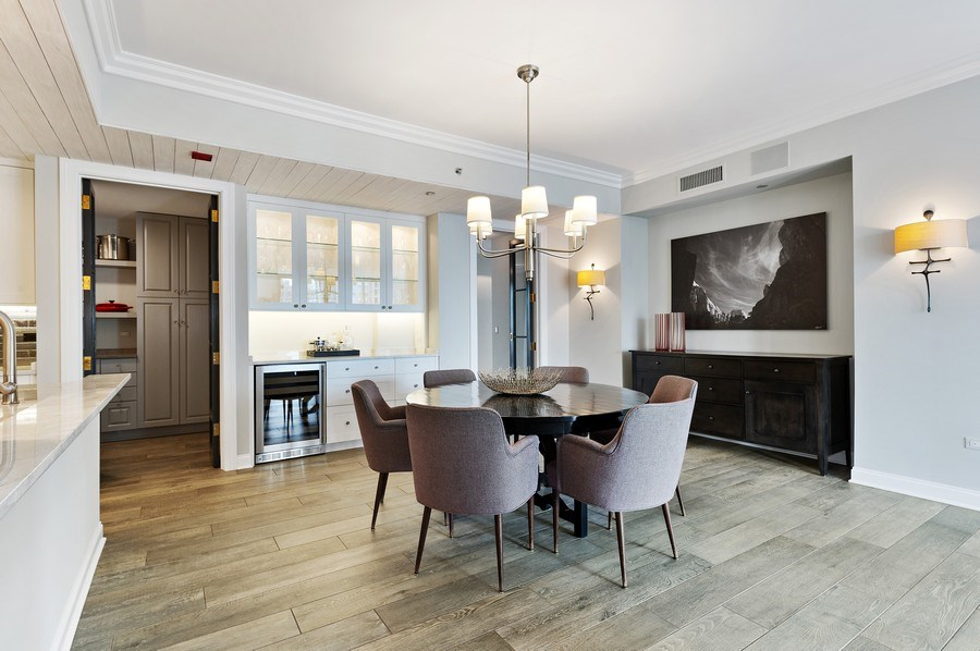 Real Estate Photography - 21 East Huron, Unit 2905, Chicago, IL, 60611 - Dining Room