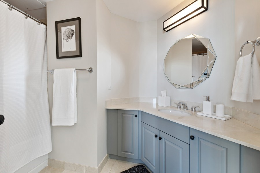 Real Estate Photography - 21 East Huron, Unit 2905, Chicago, IL, 60611 - 2nd Bathroom