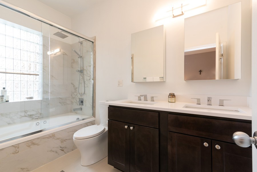 Real Estate Photography - 4641 N Magnolia Avenue, Chicago, IL, 60640 - Master Bathroom