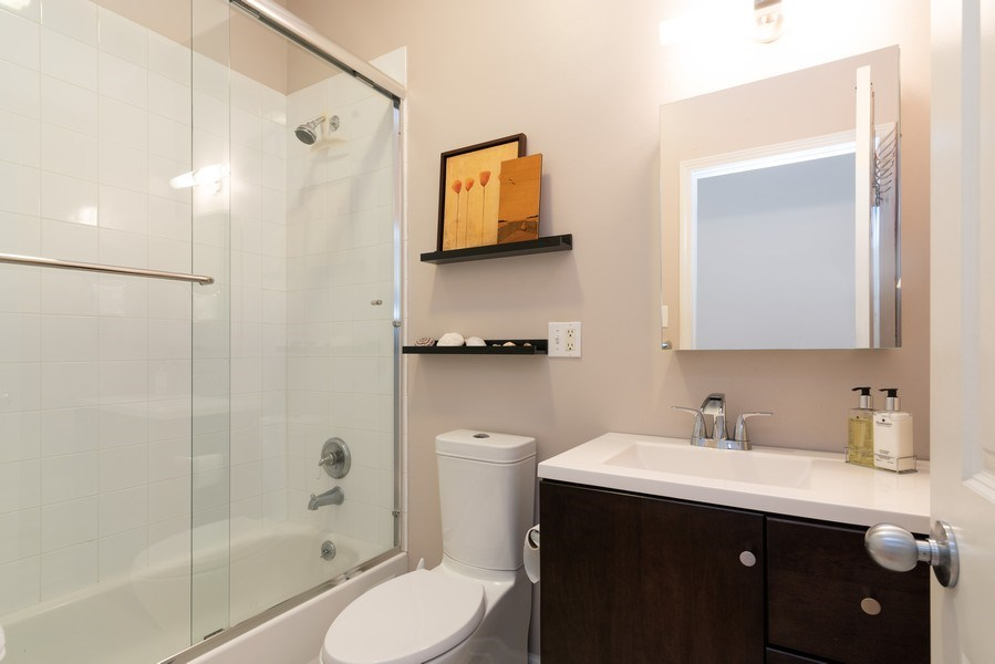 Real Estate Photography - 4641 N Magnolia Avenue, Chicago, IL, 60640 - 2nd Bathroom