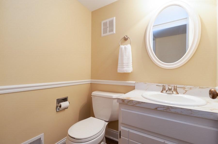 Real Estate Photography - 1141 Dawes Street, Libertyville, IL, 60048 - Half Bathroom